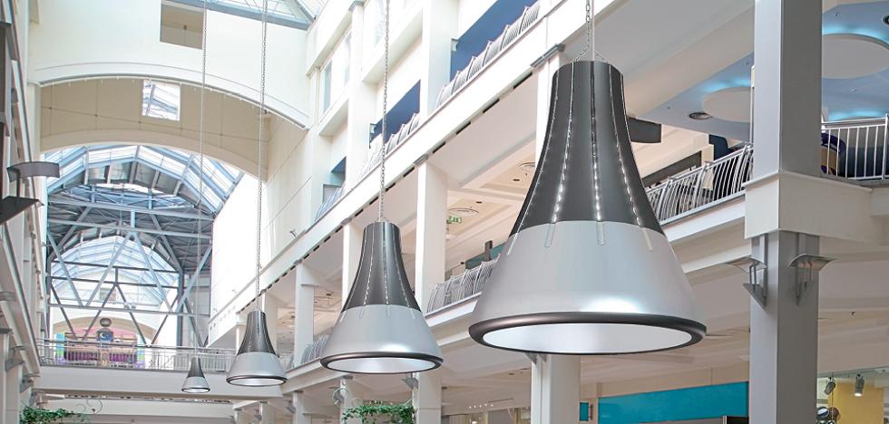 Designová průmyslová LED světla do office center